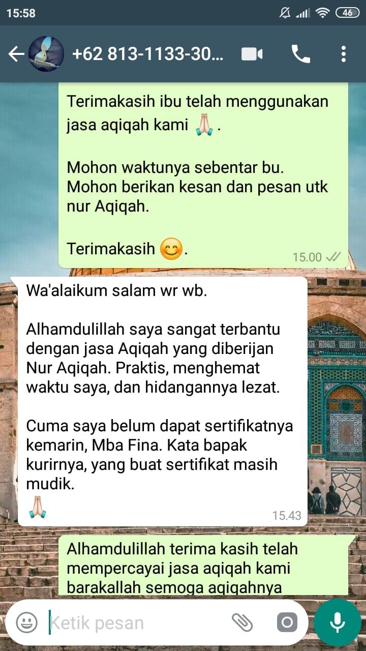 Paket aqiqah depok 2019